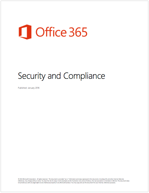 White Paper: Office 365 Security And Compliance