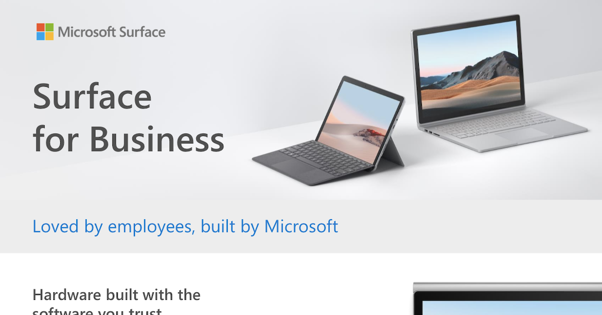 Surface For Business Fact Sheet